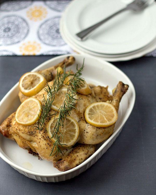 Crockpot Lemon Rosemary Chicken from www.thisgalcooks.com #crockpot #chicken #rosemary
