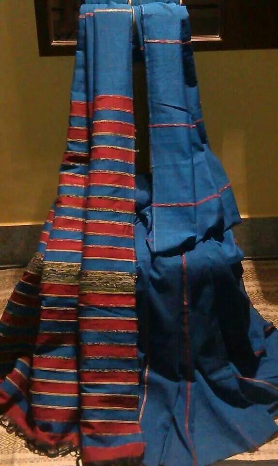 Indigo Khesh Bengal Handloom Saree