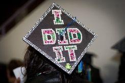 cap decoration ideas | Mai Bucket List for High School Graduates | The WiseChoice blog
