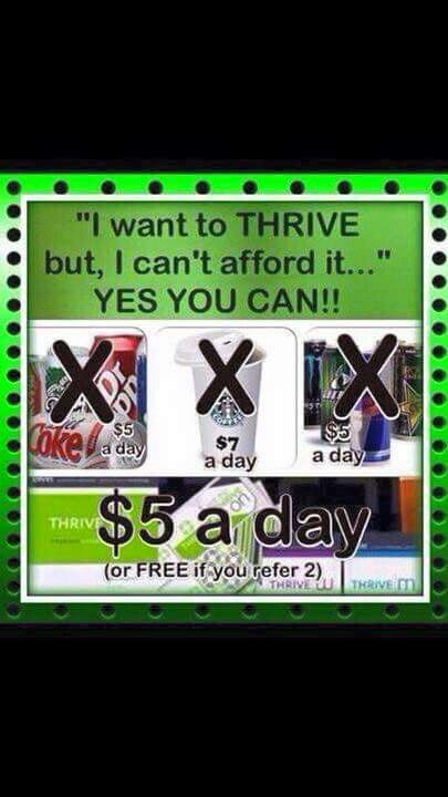 What is the Cost of Thrive? Can I afford Thrive? Yes you can... FREE! Http://designsbydustin.le-vel.com