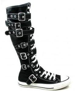 Black knee high with buckles