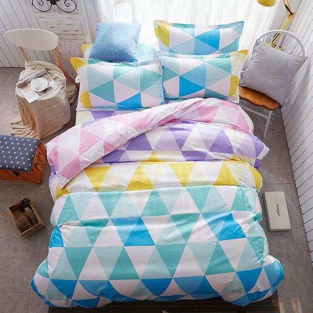 Farebné obojstranné posteľné obliečky 140x200 cm