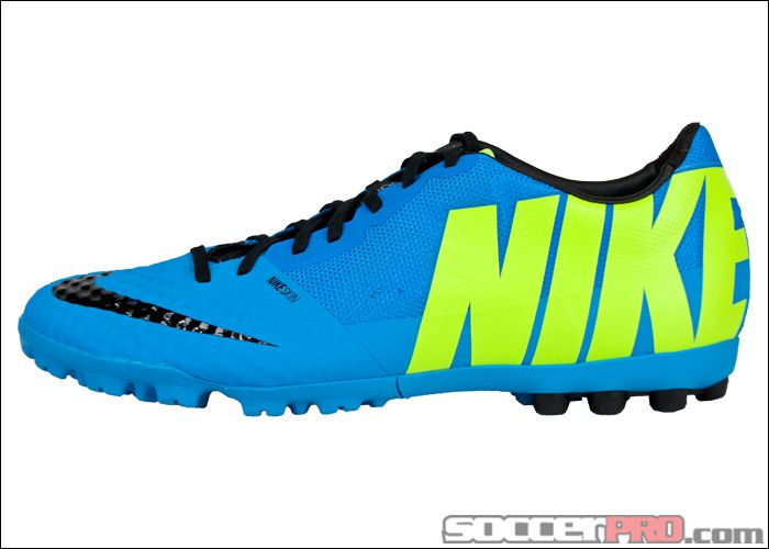 Nike FC247 Bomba Finale II Turf Soccer Shoes - Current Blue with Black.