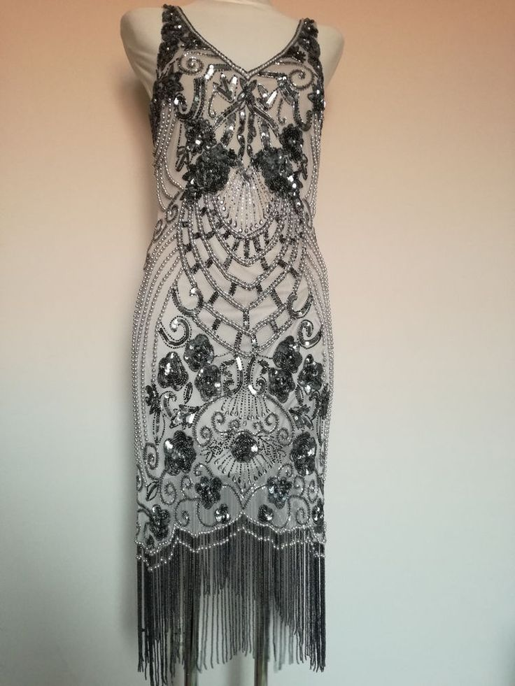 Asos Frock and Frill Embellished Flapper Dress UK 16 /XXL / 44 /US 12 GATSBY 20'  | eBay