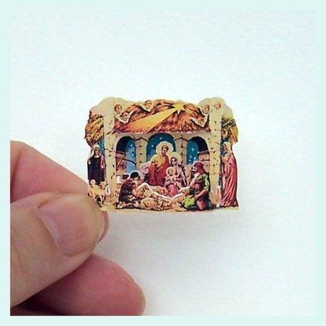 Free micro mini printable 3d Nativity Scene (link to printable + picture video tutorial)
