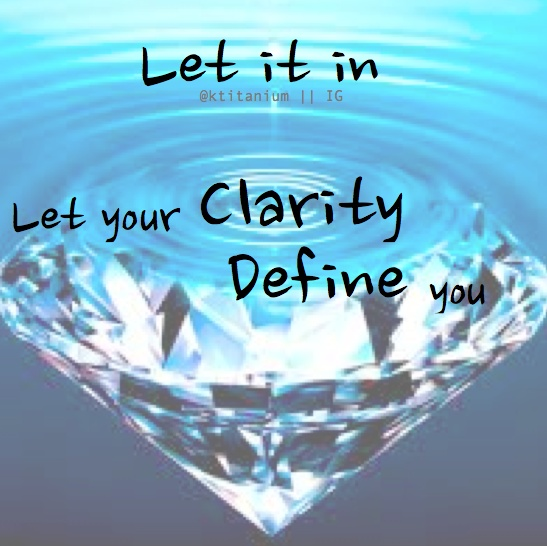 Let your clarity define you, NOT your chronic illness.  Little Wonders ~ Rob Thomas