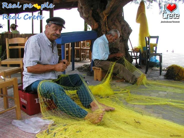 fishermen getting nets ready