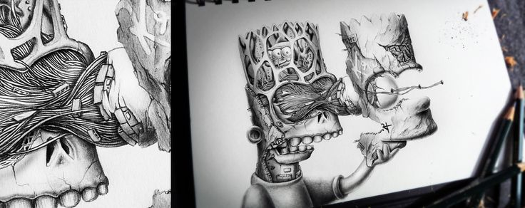 Awesome deconstruction of Bart Simpson by PEZ - Distroy
