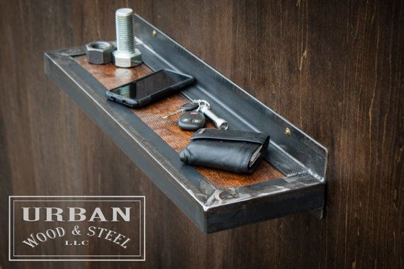 Use our sturdy little wall shelf for extra storage anywhere you need it! Perfect for your keys and phone, or decorative items, install one or