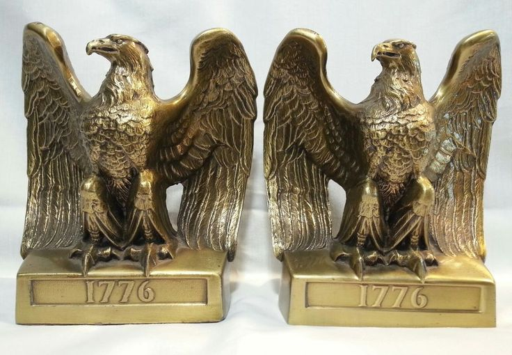 Vintage Cast Iron Eagle Bookends Philadelphia Manufacturing Co Mark Brass Finish | Collectibles, Decorative Collectibles, Book Ends | eBay!
