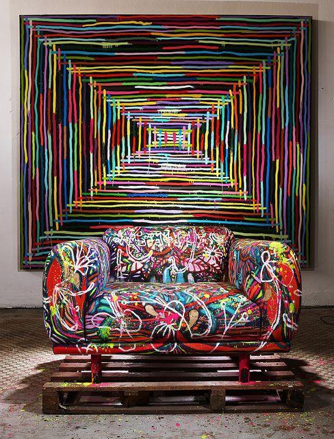 Modern. Mixed Media. Graffiti. Furniture. Home Decor. Design. v/Flickr.