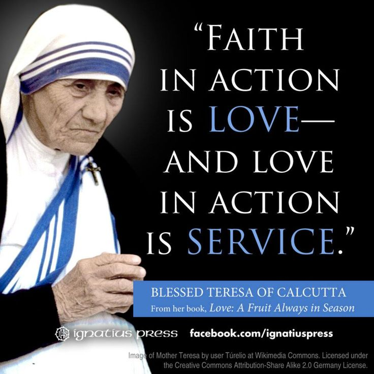 Mother Teresa Quotes: Blessed Mother Teresa On Love And Service