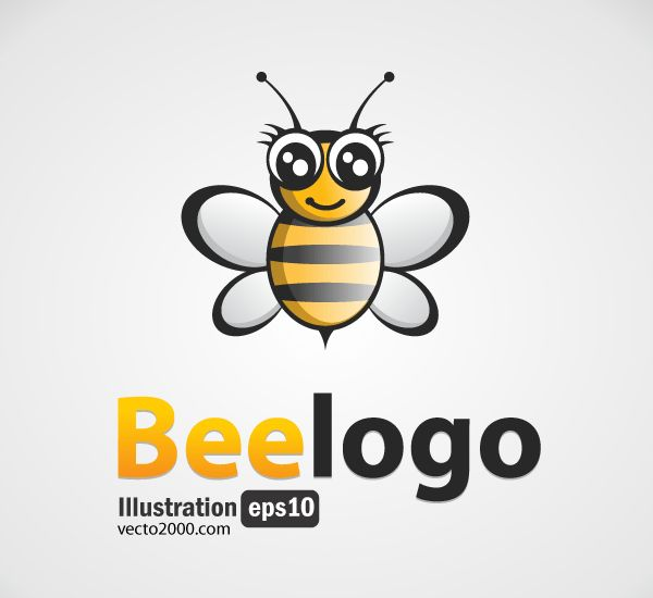 Bee Logo Free Vector Image