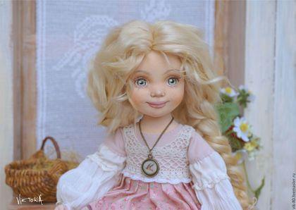 Купить Дарья - кремовый, кукла ручной работы, кантри, деревенский стиль, прованс, Вязание крючком