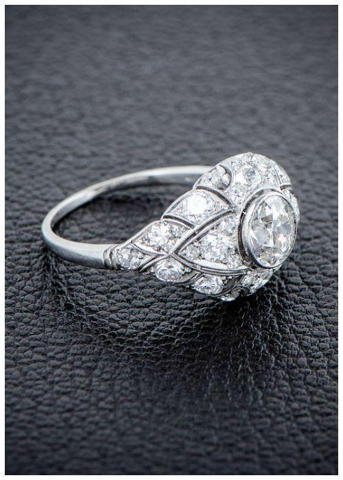 836 best Vintage Engagement rings images on Pinterest Antique
