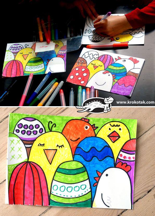 Как да си направим лесно Великденска картичка | krokotak