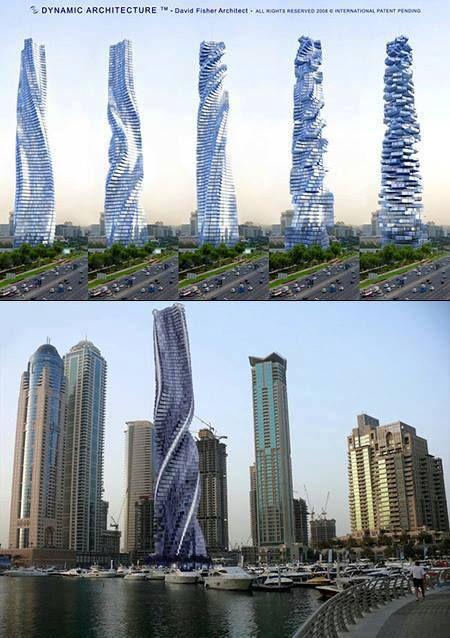 Proposed Dynamic Tower: The Futuristic Skyscraper in Dubai ...