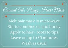 Homemade Gift: Coconut Oil Honey Hair Mask – Mad in Crafts
