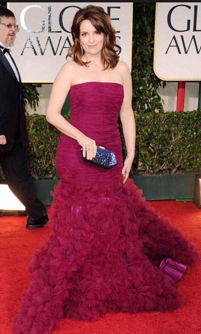 Tina Fey at the Golden Globe Awards