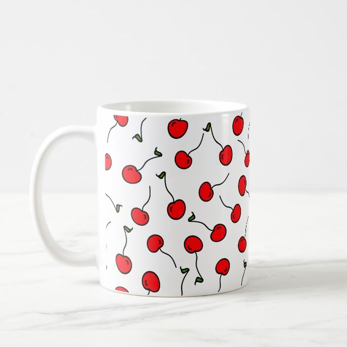Cherries Jubilee Coffee Mug Custom Office Supplies