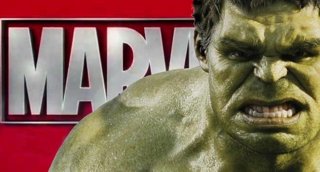 Hulk enojado con Marvel