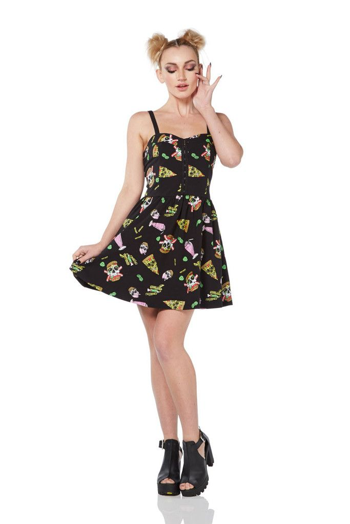 Jawbreaker Twisted Fast Food Skater Dress - 8055