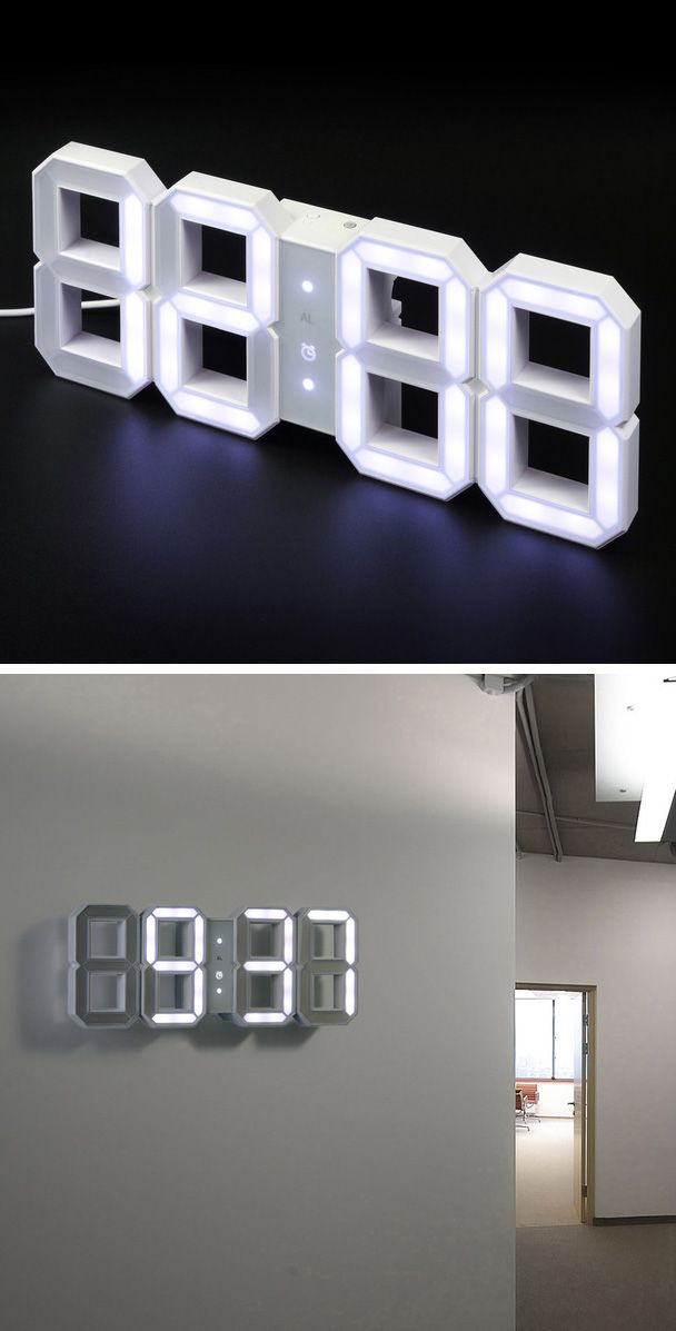 LED clock would be awesome in a Boys #dorm!  | @covercouch