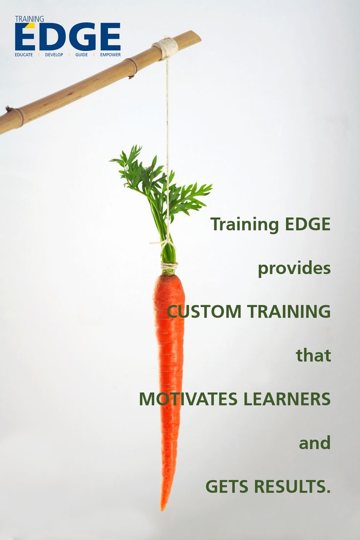 Training EDGE provides CUSTOM TRAINING that MOTIVATES LEARNERS and gets RESULTS.