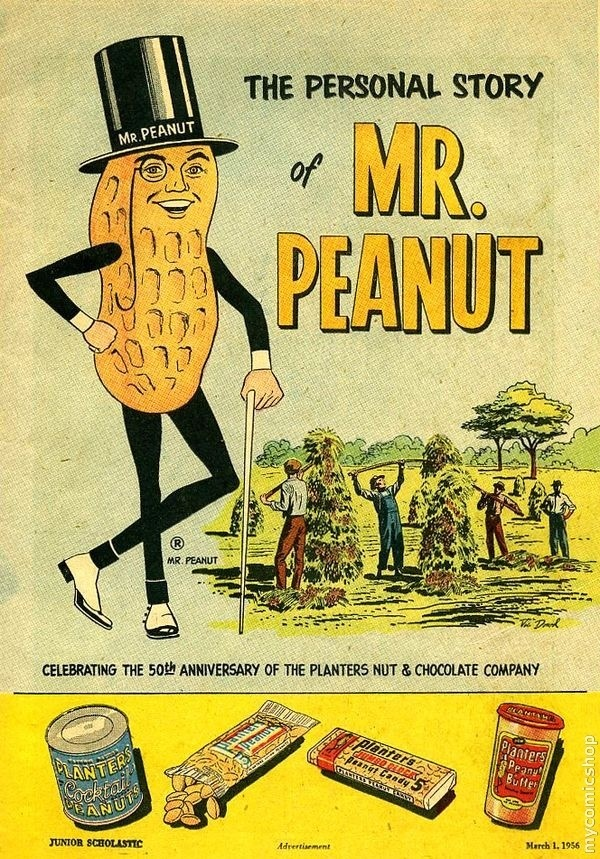 """.Why didn't you tell us the """"Personal Story"""" of Mr. Peanut?  What happened...Divorce, behind on child support, did he serve time, DUI???? Tell us!  I did not even know that Mr. Peanut had a personal story!!"""