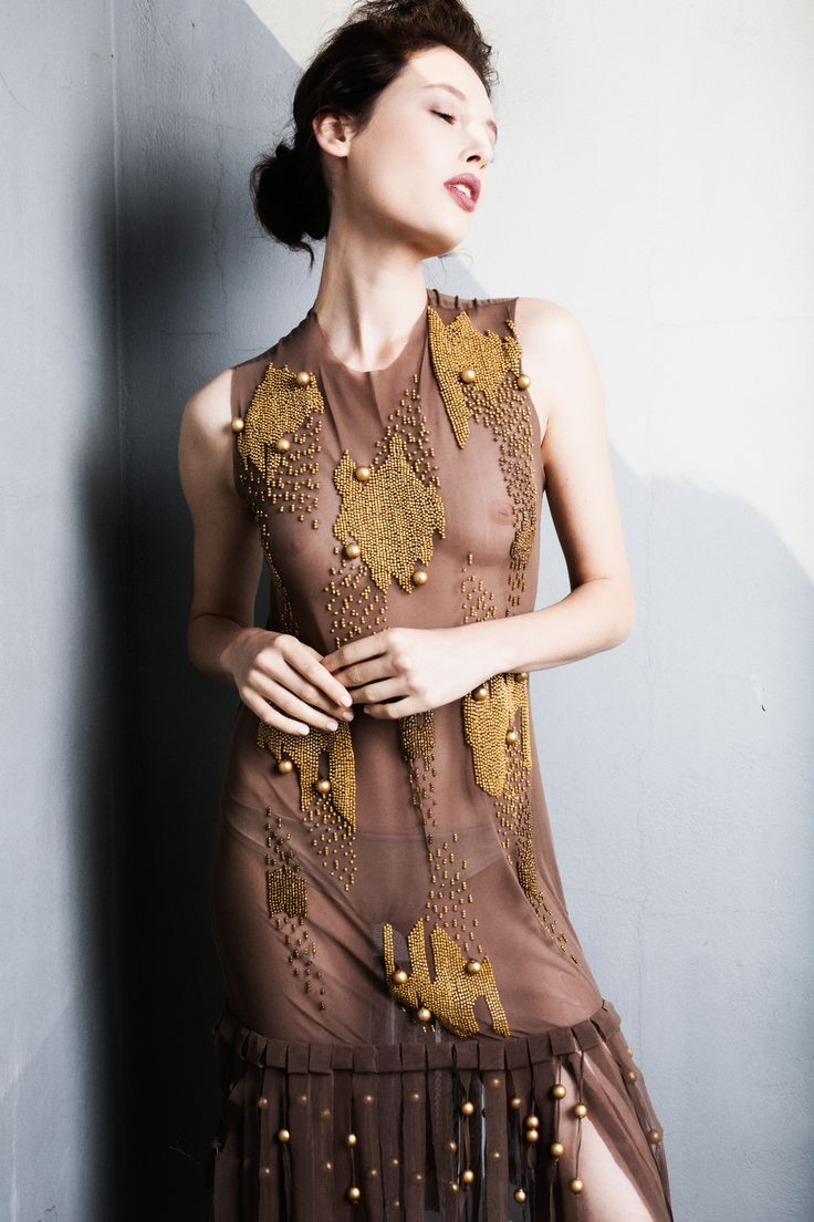 Ifigenia Fokas SS15 Embroidered dress photo credit Ilias Agiostratitis