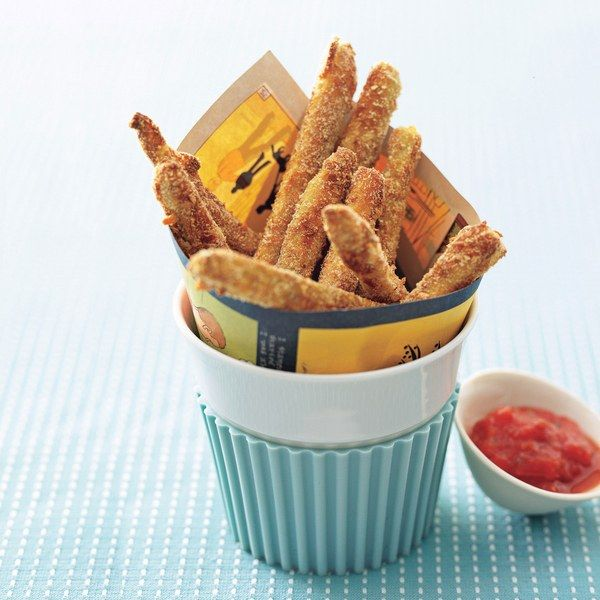 Baked Zucchini Fries with Tomato Coulis Dipping Sauce recipe | Epicurious.com