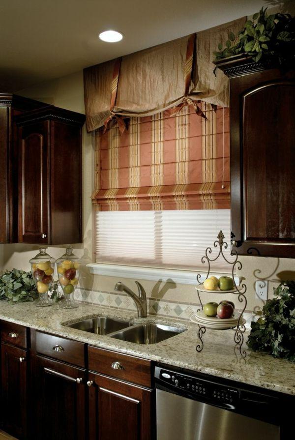 Raffrollo für Küche - eine praktische Dekoration für die Fenster ...
