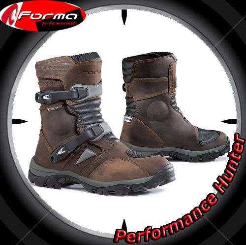 STIVALI SCARPE MOTO FORMA WATERPROOF ATV QUAD ADVENTURE LOW BROWN TG: 45