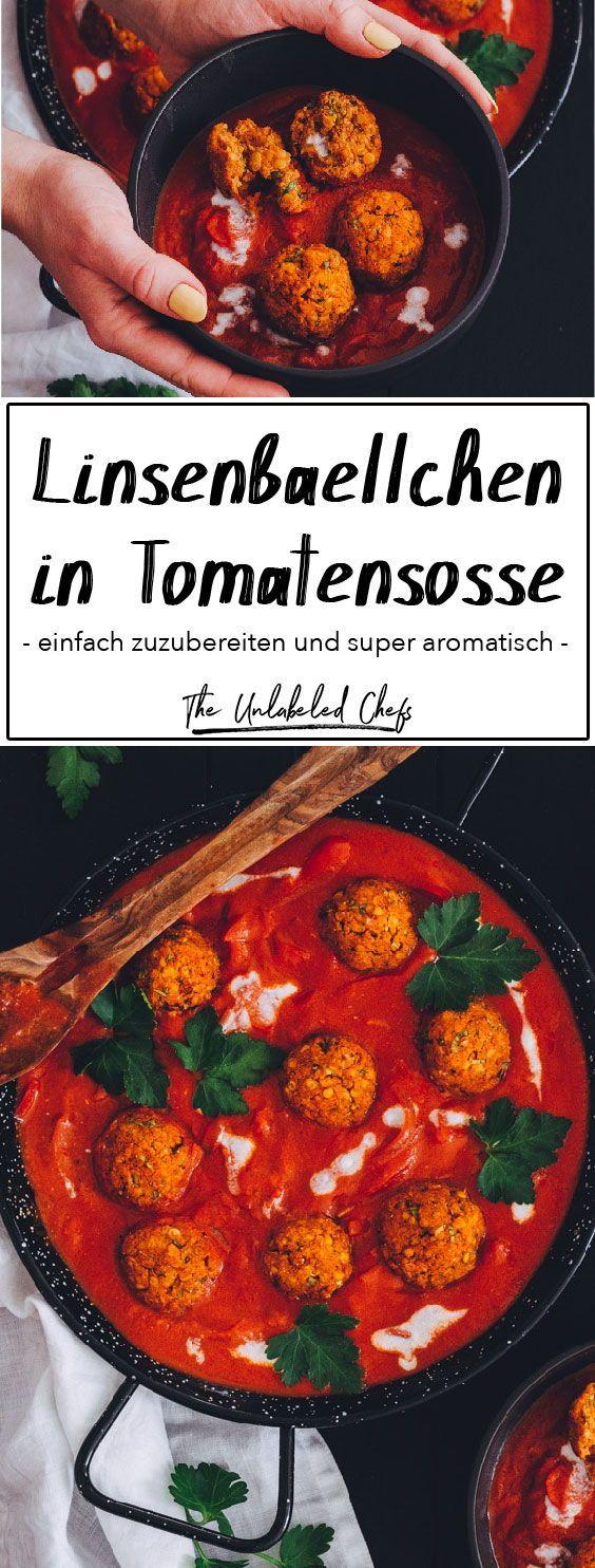 Linsenbällchen in Tomatensoße