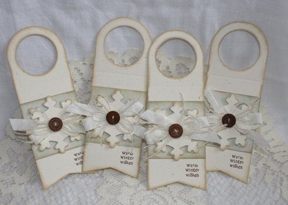 Handmade Holiday Bottle Gifting Tags