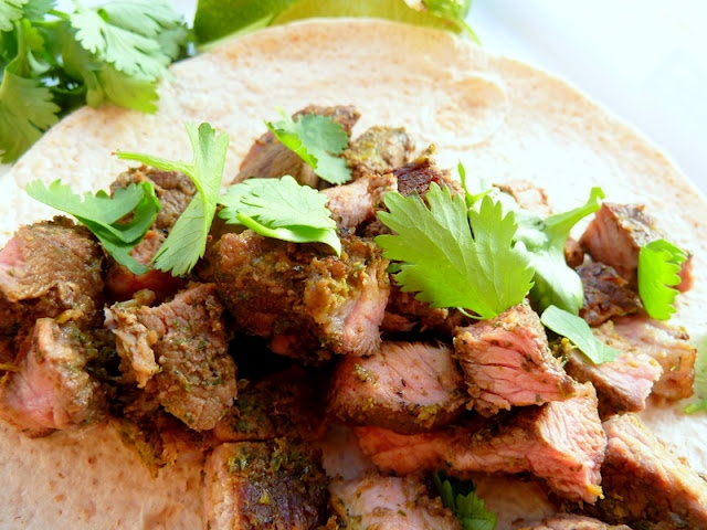 Steak Soft Tacos with Chipotle-Lime Cilantro Marinade | Recipes ...