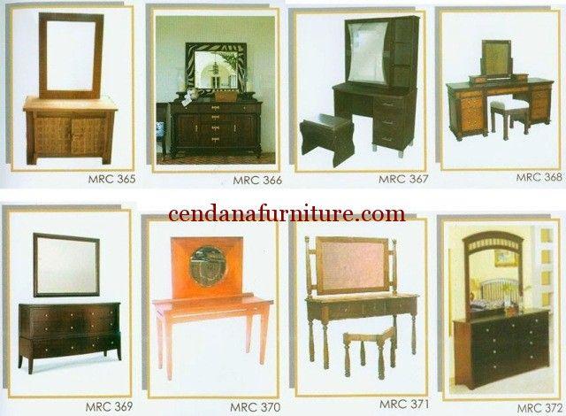 Katalog Meja Rias Minimalis MRC berisi gambar dan kode produk meja rias dengan desain minimalis yang memudahkan anda mencari furniture yang diinginkan.