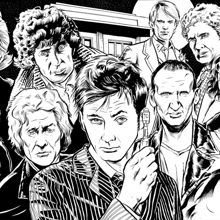7 free doctor who fan art coloring books plus bonus coloring az coloring pages