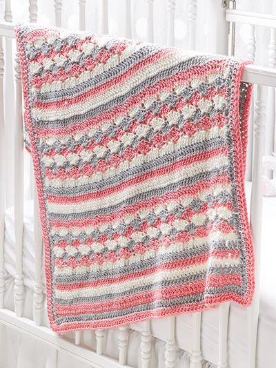 Free Crochet Pattern Download -- This Shell Stitch Baby Blanket, designed by ...