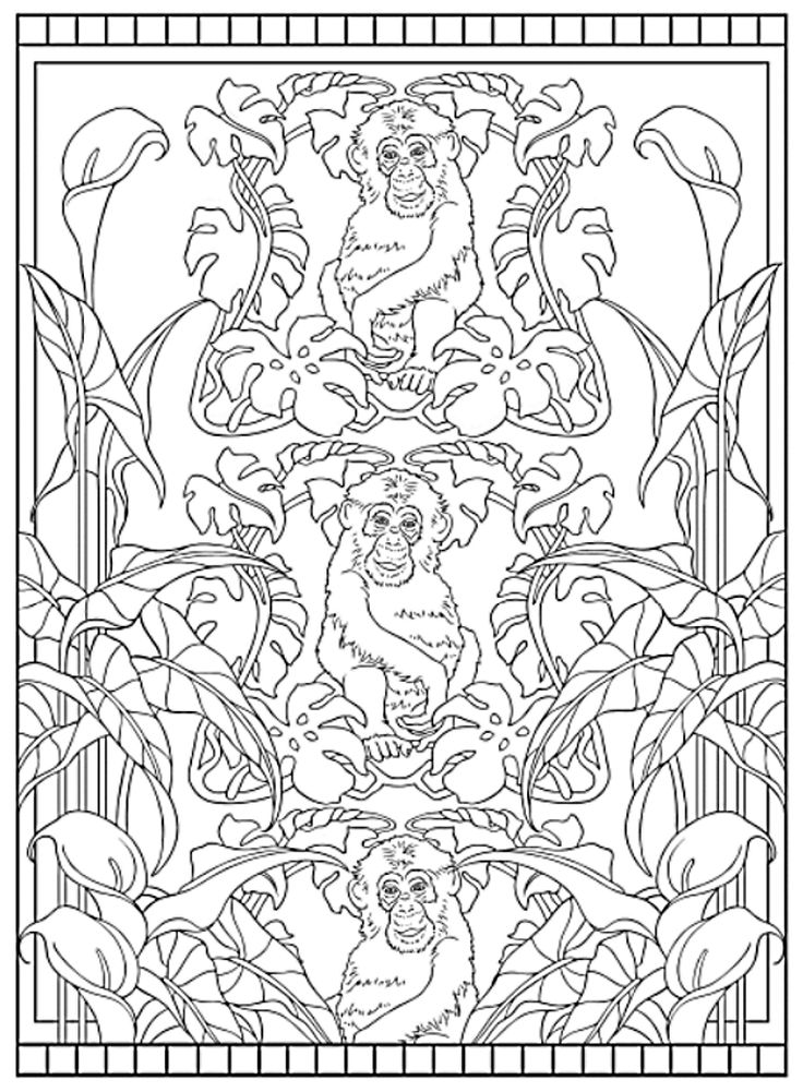 720 best animal coloring pages for adults images on pinterest ... - Art Nouveau Unicorn Coloring Pages