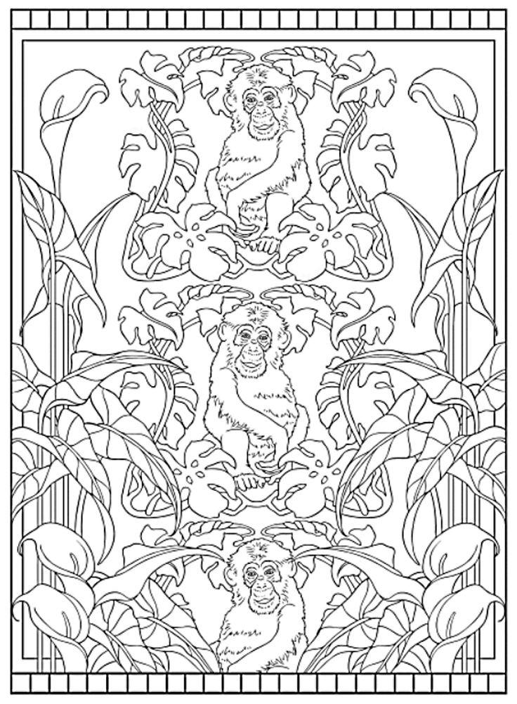 Art Nouveau Designs Coloring Book