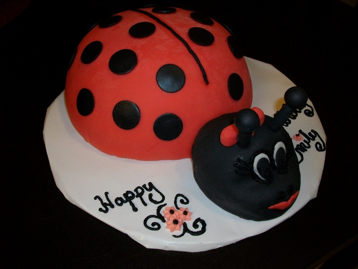 A Lady Bug Cake, made for a little 3 year old lady