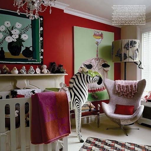 A seriously stylish nursery