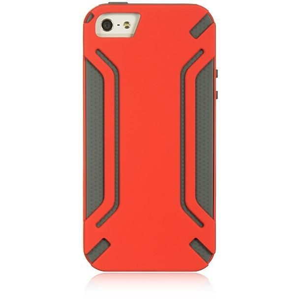 DW High-End Hybrid Protector iPhone 5/5S/SE Case - Red/Grey