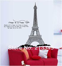 [Fundecor] 120 cm hoge Londen's beroemde Eiffeltoren home decoratieve muurschilderingen muurstickers paris muurtattoo 6629(China (Mainland))
