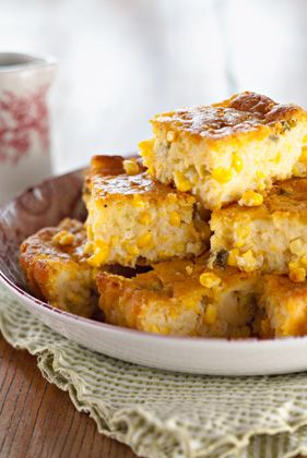 I want to try this: The Deen Bros Corn Bread Casserole with Fresh Corn and Green Onions
