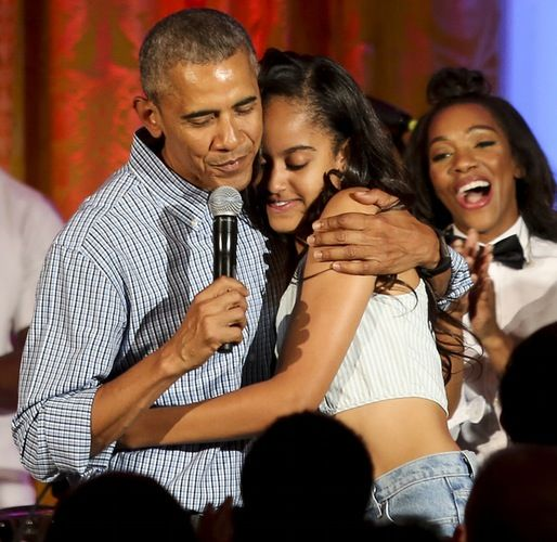 "Aww!: Barack Obama Sweetly Sings ""Happy Birthday"" to Daughter Malia Obama During White House 4th of July Party"