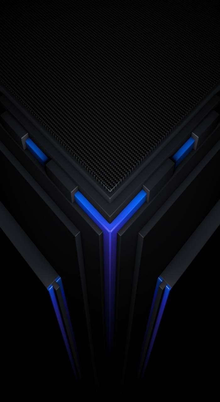 Evo Carbon Blue Karya Seni 3d Gambar Serigala Sains Komputer