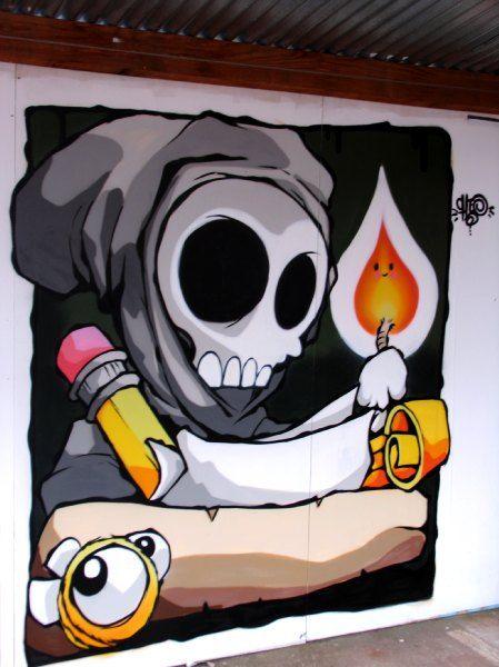 Distorsion Urbana: Cheo, comic streetart desde Bristol