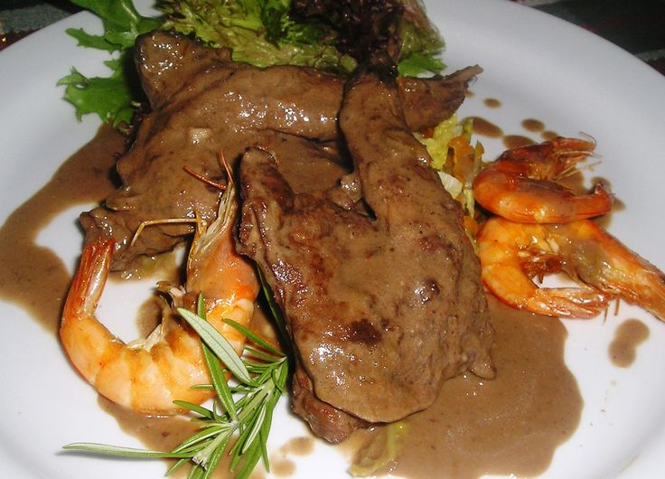 Rabbit & Prawns with Chocolate Sauce